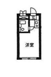 東京都新宿区赤城下町の賃貸マンションの間取り