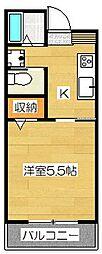 TS  1号館[305号室]の間取り