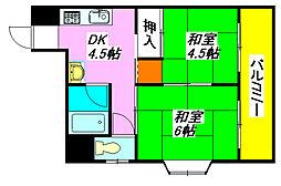 大扇コーポ 405号室[4階]の間取り