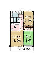 大澤マンション[203号室]の間取り