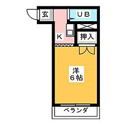 グリーンハイツ[3階]の間取り