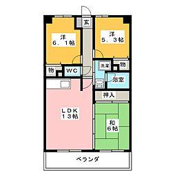 エスポワールシキタ[2階]の間取り