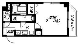 グレイス蒲田 3階1Kの間取り
