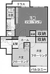 神奈川県川崎市麻生区上麻生5丁目の賃貸マンションの間取り