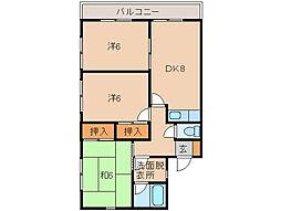 シティハイツ吉森II[2階]の間取り