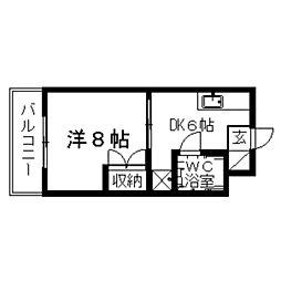 キャンパスみずほII[202号室]の間取り