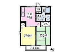 ヴェルドミール昭島[203号室]の間取り