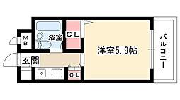 ジョイフル守山[402号室]の間取り
