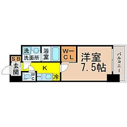 愛知県名古屋市千種区今池5の賃貸マンションの間取り