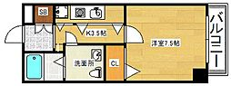 大阪府吹田市片山町4丁目の賃貸マンションの間取り