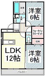 ラフレイシル[3階]の間取り