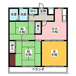 サン山田[2階]の間取り