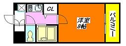 ヴィガ・中央長田 602号室[6階]の間取り