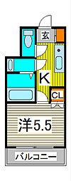 蕨テラス[3階]の間取り