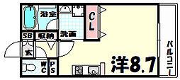 モンテマーレ北野[10階]の間取り