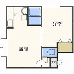 北海道札幌市西区八軒八条東5丁目の賃貸アパートの間取り