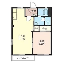 ドミールB[2階]の間取り