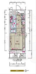 Osaka Metro千日前線 日本橋駅 徒歩7分の賃貸マンション 2階1Kの間取り