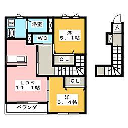 メゾン・ボア[2階]の間取り