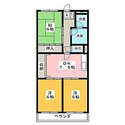 サンピース[3階]の間取り
