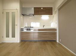 リフォームによりキッチンを新調しました。キッチンは家族の絆を育む大切な空間。シンプルで使い易いシステムキッチンで愉しく作る料理は愛情のある美味しいご馳走に(2019年7月20日撮影)