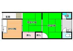 青山荘[103号室]の間取り