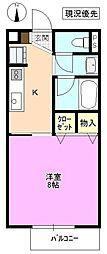 長野県松本市寿北1丁目の賃貸アパートの間取り