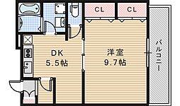 サンライトあべの5[205号室]の間取り