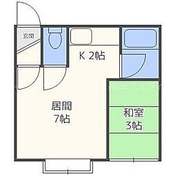 キャッスルK[2階]の間取り