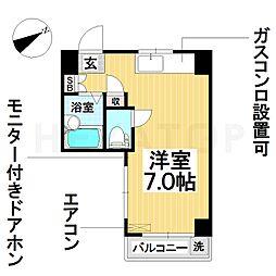 愛知県名古屋市瑞穂区北原町1の賃貸マンションの間取り