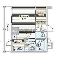 東京都中央区築地7丁目の賃貸マンションの間取り