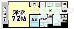 JR仙石線 榴ヶ岡駅 徒歩3分の賃貸マンション 4階1Kの間取り