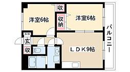 グランディアム香坂[302号室]の間取り