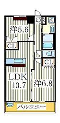 ディモア コート[1階]の間取り