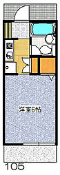 メイプルコジマ1階Fの間取り画像
