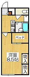 京都府京都市伏見区石田大受町の賃貸アパートの間取り