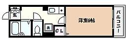 兵庫県神戸市東灘区本山中町4丁目の賃貸アパートの間取り