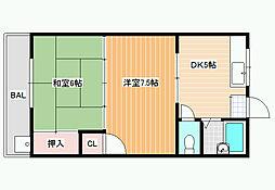 オレンジコーポ[2階]の間取り