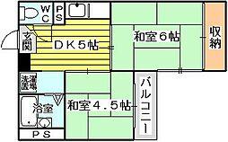 サンハイツ大阪屋[306号室]の間取り