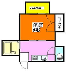 秀雅ハイツ 403号室[4階]の間取り