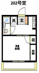 パークハイツ桜ヶ丘[2階]の間取り