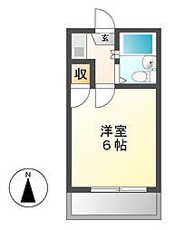 愛知県名古屋市千種区東明町4丁目の賃貸アパートの間取り