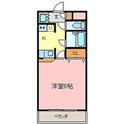 愛知県知多市新知台1丁目の賃貸アパートの間取り