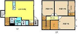 [テラスハウス] 兵庫県姫路市広畑区才 の賃貸【/】の間取り