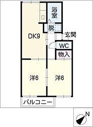 パビヨン柏井[1階]の間取り