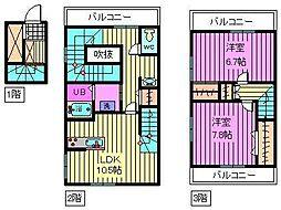 [テラスハウス] 埼玉県川口市芝4丁目 の賃貸【/】の間取り