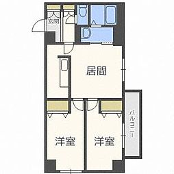 北海道札幌市西区宮の沢三条4丁目の賃貸マンションの間取り