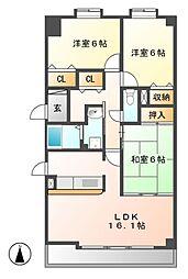 リーフマンショングロリアス[1階]の間取り