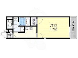 Osaka Metro谷町線 平野駅 徒歩8分の賃貸アパート 2階1Kの間取り