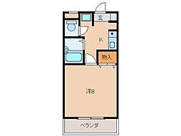メゾン貴志[3階]の間取り
